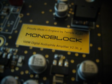 Temple Audio 2017 Monoblock  Ultimate quality Digital Monoblock