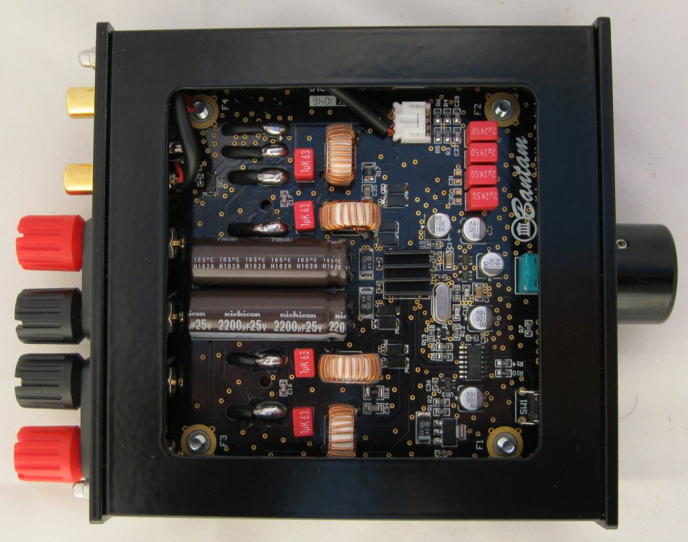 Temple Audio Bantam Gold High Quality Digital Stereo Amplifier Stk Circuit Power Supply Included